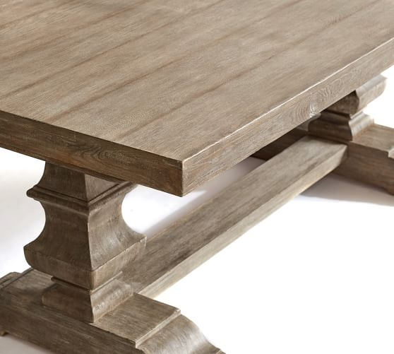 Amazing Premium Grey Wash Coffee Tables Intended For Banks Extending Dining Table Grey Wash Pottery Barn (Image 2 of 50)