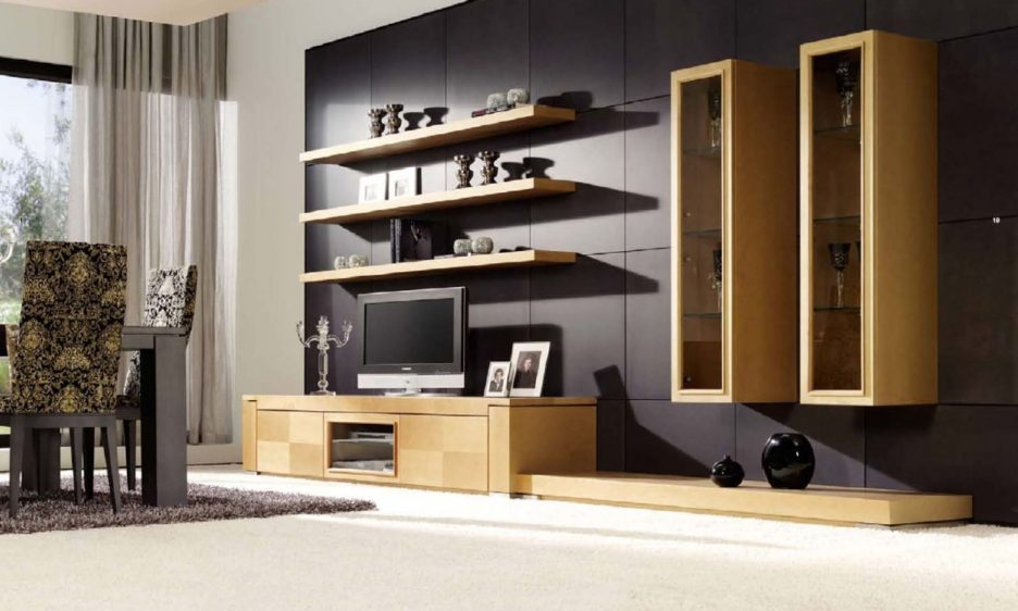 Amazing Premium Grey Wood TV Stands Regarding Living Room Attractive Tv Stand Living Room Ideas With Beige (Image 3 of 50)