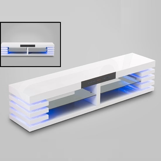 Amazing Premium High Gloss White TV Stands Regarding White Tv Stands Uk Elliot White Large Av Unit Email Address (Image 2 of 50)