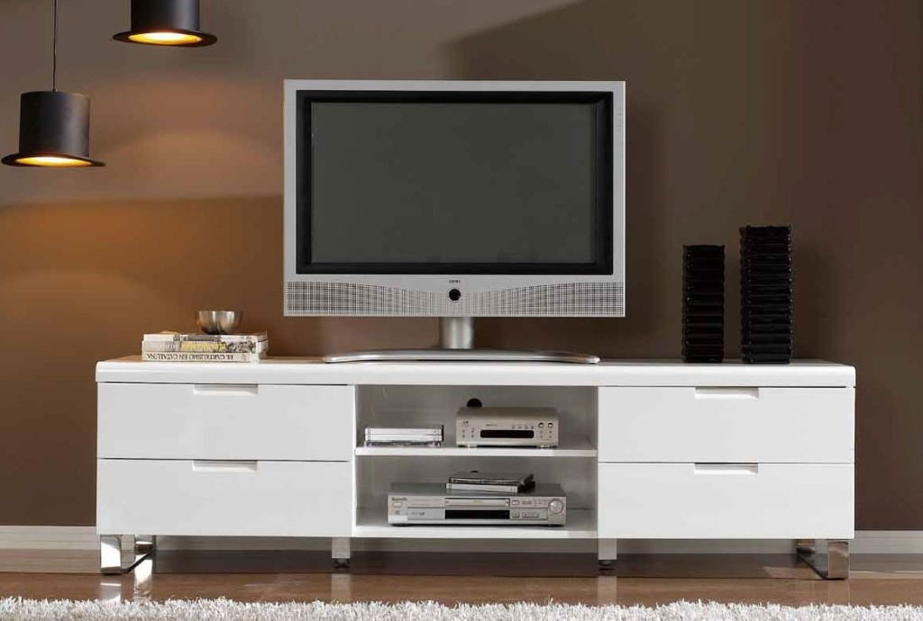 Amazing Premium Large White TV Stands In Stand Design Living Furniture White Living Room Sofa Fabulous (Image 3 of 50)