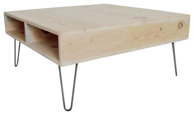 Amazing Premium Oak Square Coffee Tables Within 36 Pickled Oak Square Coffee Table Midcentury Coffee Tables (Image 1 of 50)