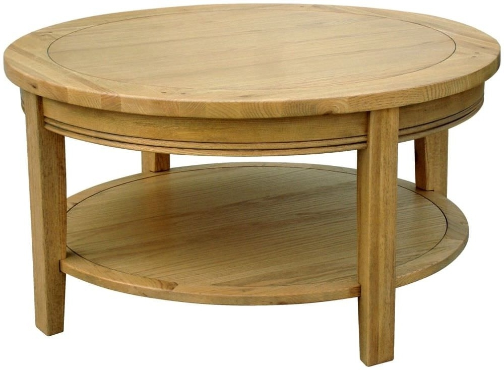 Amazing Premium Round Oak Coffee Tables Inside Interior Marvellous Round Oak Coffee Table Oval Oak Coffee Table (Image 4 of 40)