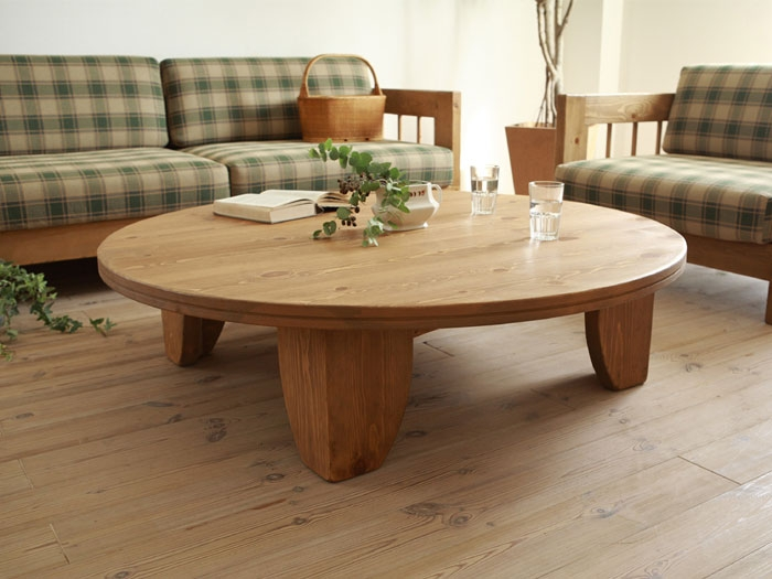 Amazing Premium Round Pine Coffee Tables Inside Popular Round Pine Tables Buy Cheap Round Pine Tables Lots From (Image 3 of 50)