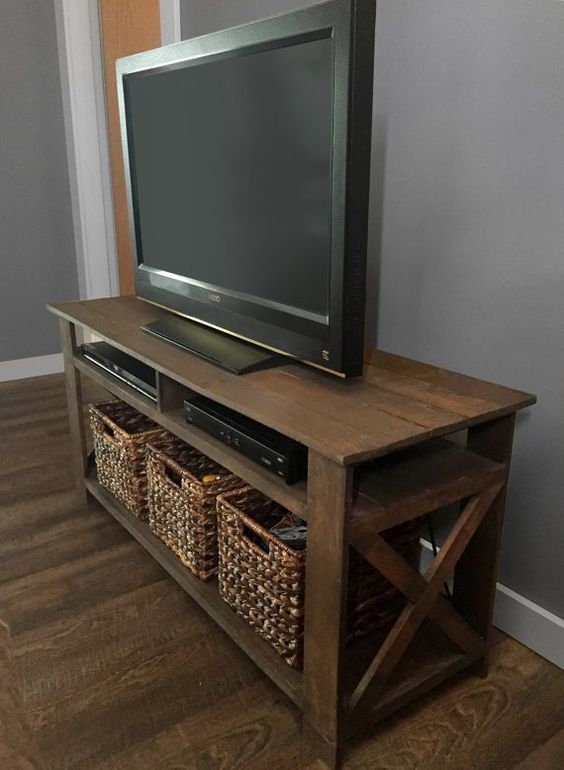 Amazing Premium Rustic Looking TV Stands Regarding Best 25 Pallet Tv Stands Ideas Only On Pinterest Rustic Tv (Image 2 of 50)