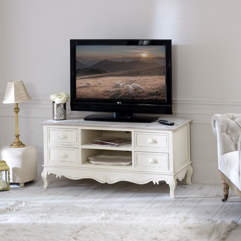 Amazing Premium Shabby Chic TV Cabinets In Beautiful Barely Used Shab Chic Tv Cabinet Bargain In (View 21 of 50)
