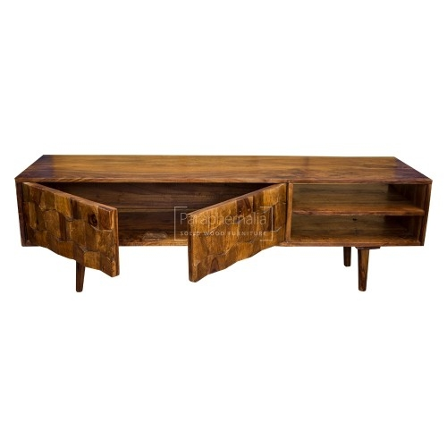 Amazing Premium Sheesham TV Stands With Jali Modern Sheesham Wood Slimtv Stand Jali Tv Stand With A (Image 4 of 50)
