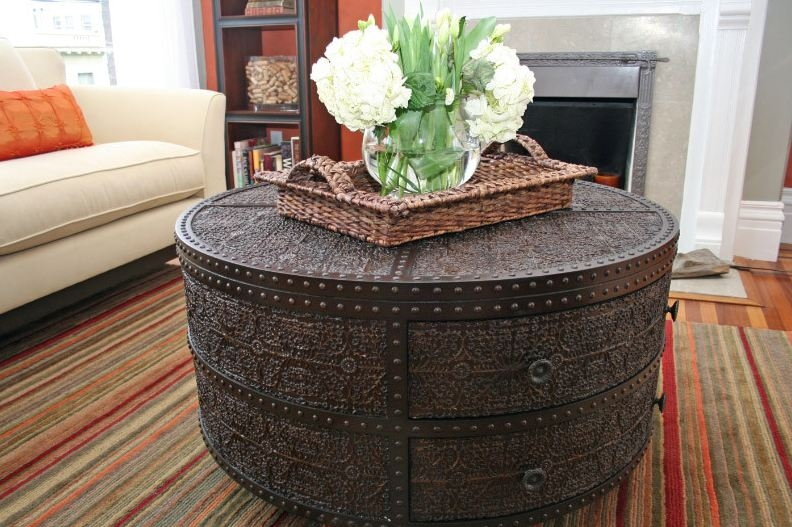 Amazing Premium Small Circular Coffee Table With Decorating A Round Coffee Table Kelly Bernier Designs (Image 1 of 40)
