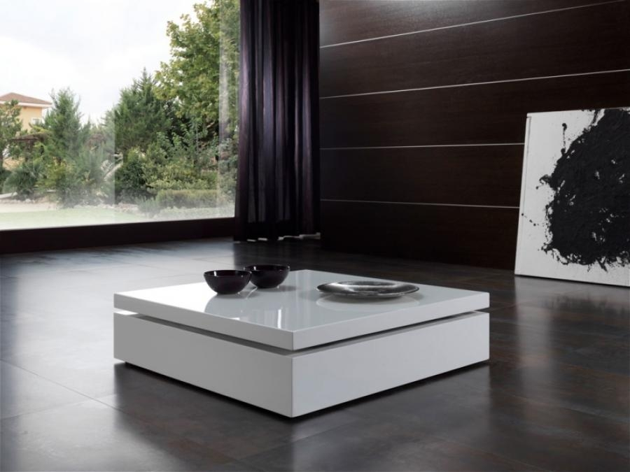 Amazing Premium Square Low Coffee Tables Regarding Living Room The White Contemporary Coffee Table With Modern (Image 4 of 50)