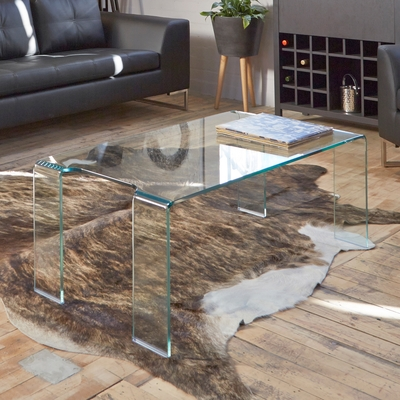 Amazing Premium Transparent Glass Coffee Tables With Regard To Puro Glass Coffee Table Clear Dwell (Image 3 of 50)