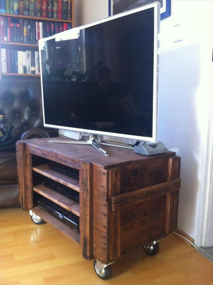 Amazing Premium Wooden TV Stands With Wheels With Wooden Tv Stand On Wheels Home Design Ideas (Image 3 of 50)