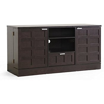 Amazing Series Of Black Modern TV Stands Pertaining To Amazon Baxton Studio Tosato Brown Modern Tv Stand And Media (Image 3 of 50)