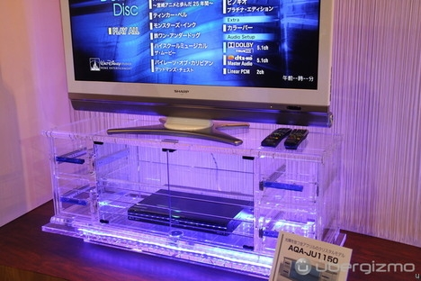Amazing Series Of Clear Acrylic TV Stands Throughout Clear Acrylic Tv Stand Craziest Gadgets (Image 3 of 50)
