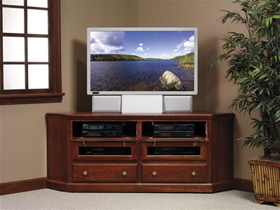 Amazing Series Of Corner TV Stands For 46 Inch Flat Screen Within Convenience Concepts 8043381 Corner Tv Stand For Flat Panel Tvs (View 7 of 50)