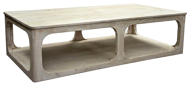 Amazing Series Of Grey Wash Wood Coffee Tables Throughout Reclaimed Lumber Gimso Coffee Table Gray Wash Wax Farmhouse (Image 2 of 50)