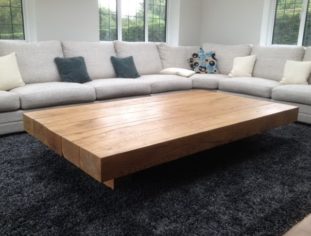 Amazing Series Of Large Square Glass Coffee Tables For Fabulous Large Square Wood Coffee Table (Image 1 of 50)