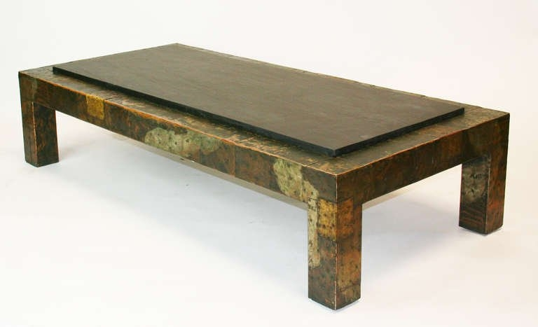 Amazing Series Of Round Slate Top Coffee Tables Regarding Slate Coffee Table Large Paul Evans Patchwork And Slate Coffee (Image 5 of 40)