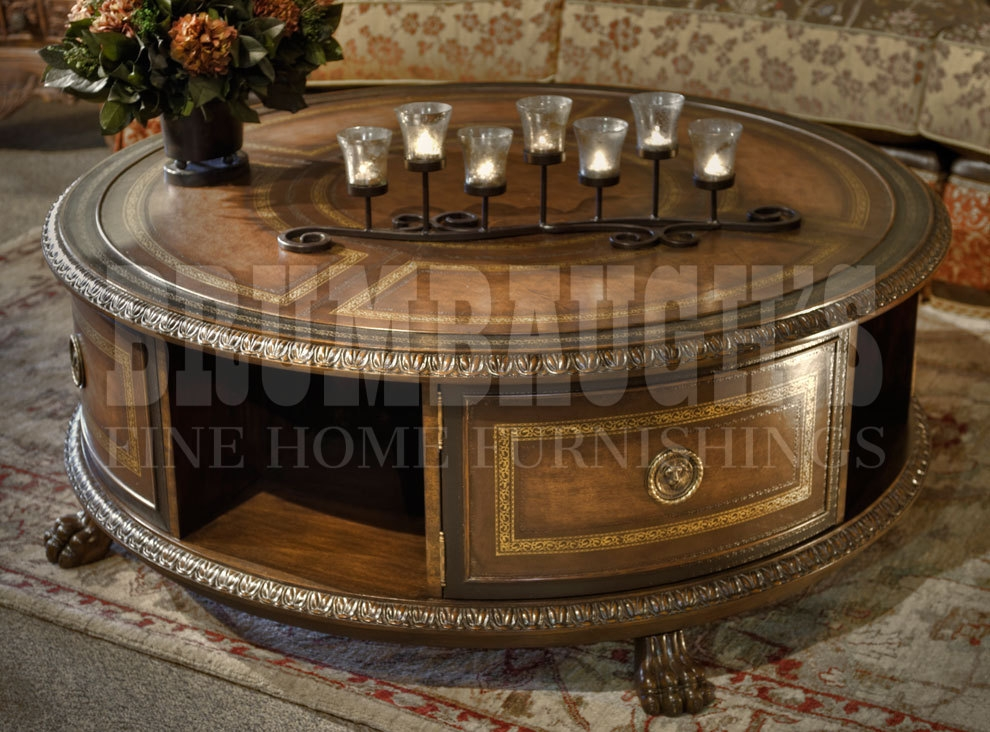 Amazing Series Of Round Swivel Coffee Tables Regarding Swivel Round Coffee Table Brumbaughs Fine Home Furnishings (View 37 of 50)