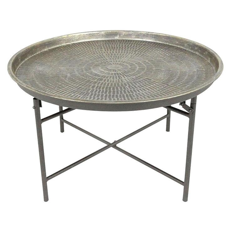 Amazing Series Of Round Tray Coffee Tables Within Metal Coffee Table (Image 3 of 50)