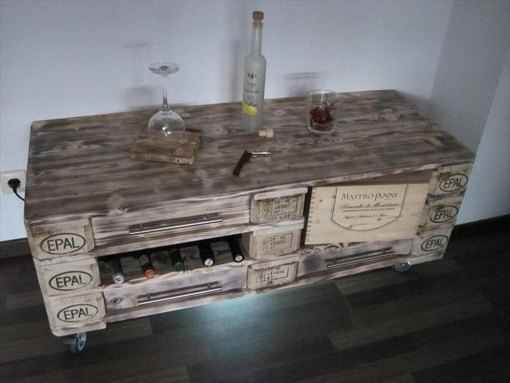 Amazing Series Of Rustic Coffee Table And TV Stands Pertaining To Vintage Inspired Pallet Coffee Table (Image 5 of 50)