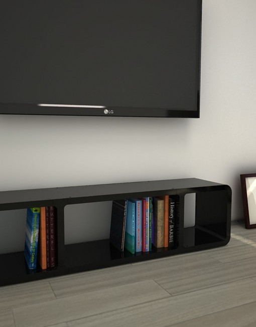 Amazing Series Of Slim TV Stands Inside Tm3 Slim Low Profile Tv Stand Expand (Image 5 of 50)