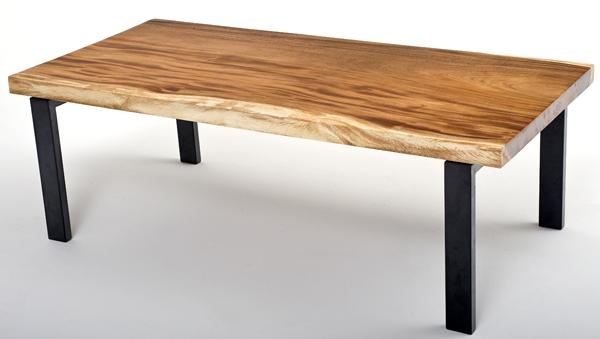 Amazing Series Of Solid Wood Coffee Tables Intended For Natural Wood Table Slab Coffee Solid Wood Live Edge Style (Image 5 of 50)
