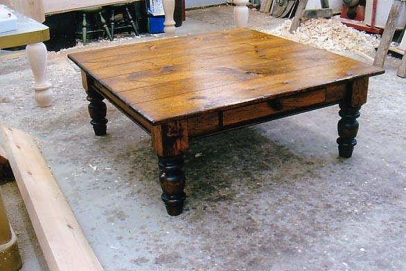 Amazing Series Of Square Pine Coffee Tables Regarding Inspiring Pine Coffee Tables Ideas (Image 2 of 50)