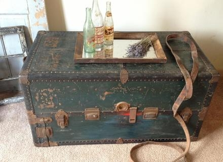 Amazing Series Of Steamer Trunk Stainless Steel Coffee Tables In Stainless Steel Trunk Coffee Table Jerichomafjarproject (View 21 of 50)