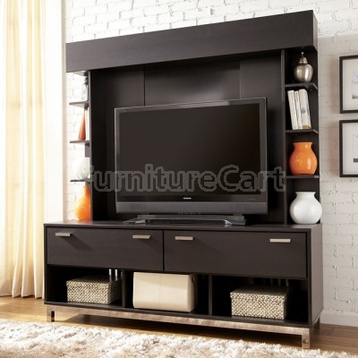 Amazing Series Of TV Stands With Back Panel Regarding Masterton Tv Stand W Back Panel Signature Design Furniture Cart (View 5 of 50)
