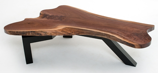Amazing Series Of Wood Modern Coffee Tables With Regard To Contemporary Coffee Table Natural Wood Live Edge Custom (Image 3 of 50)