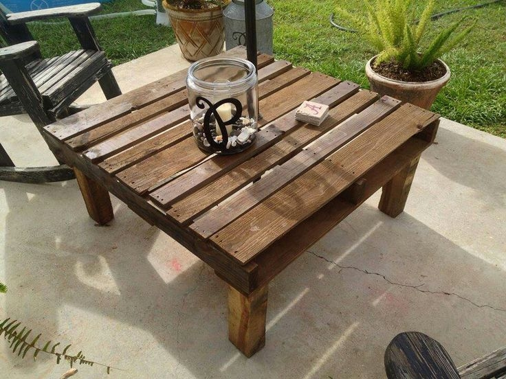 Amazing Series Of Wooden Garden Coffee Tables Intended For Best 25 Pallet Table Outdoor Ideas On Pinterest Diy Pallet (Image 3 of 50)