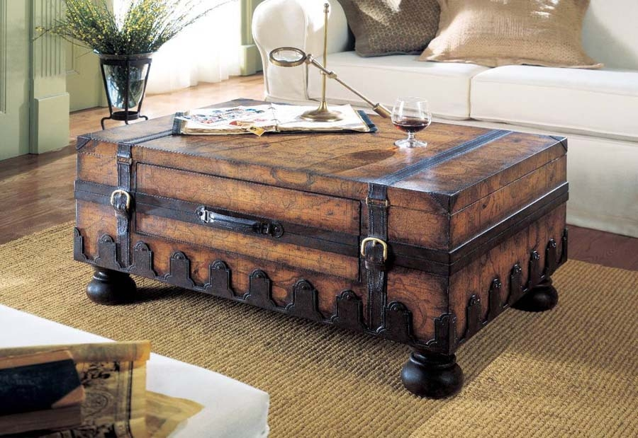 Amazing Top Antique Rustic Coffee Tables In Chest Coffee Tables Jericho Mafjar Project (Image 2 of 50)