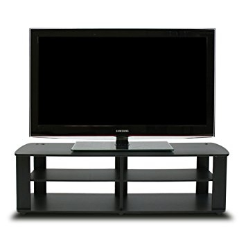 Amazing Top Black TV Stands Within Amazon Furinno 11191bk The Entertainment Center Tv Stand (Image 4 of 50)