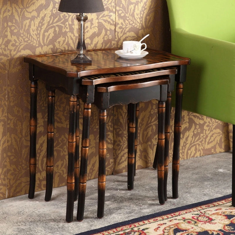 Amazing Top Coffee Tables And Side Table Sets Pertaining To Living Room Great Coffee Table 3 Set Retro Hand Painted Side (Image 1 of 50)