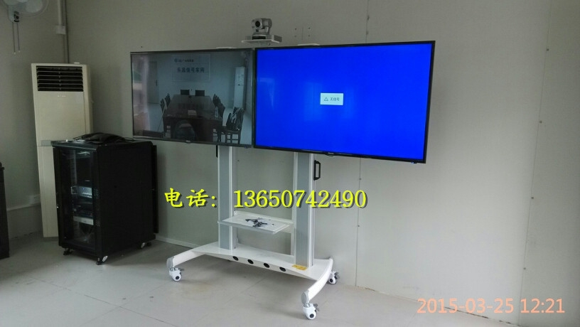 Amazing Top Dual TV Stands With Regard To Nbavt1800 60 2a Video Dual Tv Mobile Floor Stand Plasma Dual (Image 3 of 50)