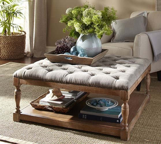 Amazing Top Footstool Coffee Tables Within Pretty Upholstered Footstool Coffee Table Tables Diy Tablejpg (Image 5 of 40)