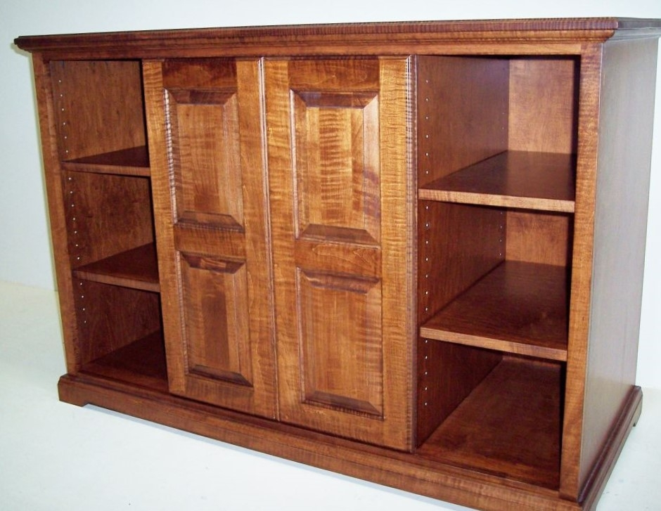 Amazing Top Maple TV Cabinets Inside Solid Curly Maple Tv Cabinet Eagle Cabinets (Image 4 of 50)