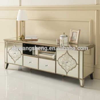 Amazing Top Mirrored TV Cabinets Pertaining To European Style Luxury High Quality Mirrored Tv Cabinet Unit Buy (View 29 of 50)