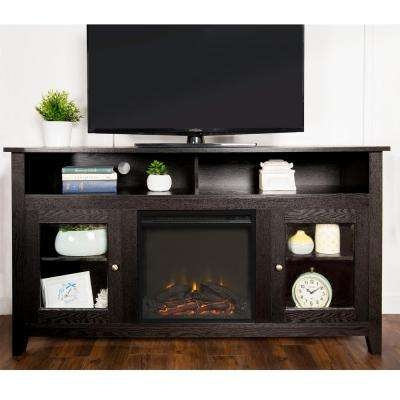 Amazing Top Modular TV Stands Furniture Intended For Dark Brown Wood Tv Stands Living Room Furniture The Home Depot (Image 3 of 50)