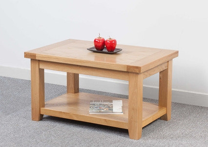 Amazing Top Oak Coffee Table With Shelf Regarding Coffee Tables Furniture Mountain (Image 2 of 50)