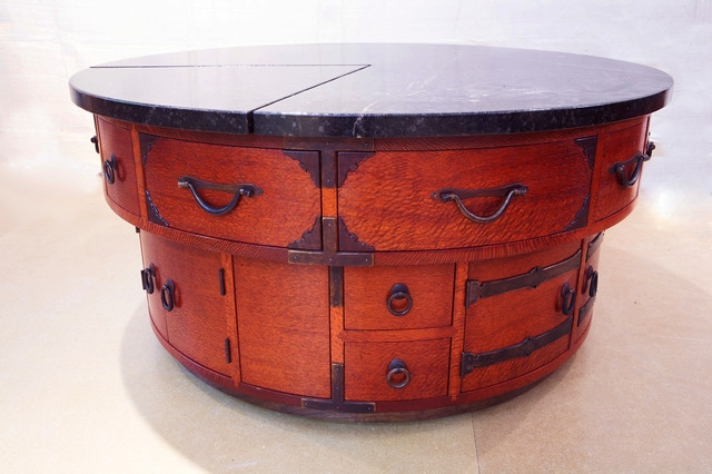 Amazing Top Red Round Coffee Tables For Tansu In The Round Asian Coffee Table (View 14 of 50)