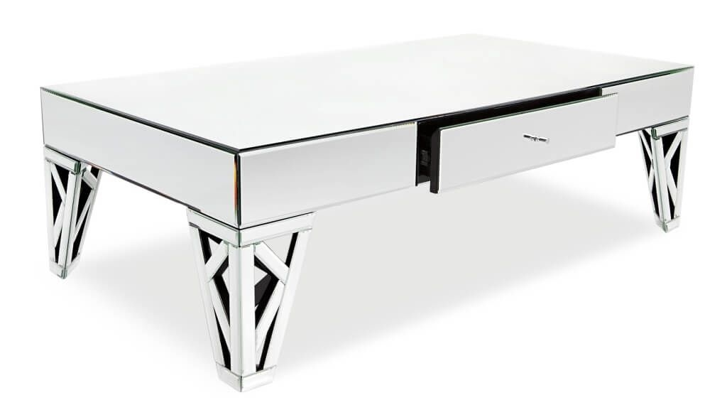 Amazing Top Small Mirrored Coffee Tables With Furniture Azure New Fashioned Mirrored Coffee Table And Single (View 42 of 50)