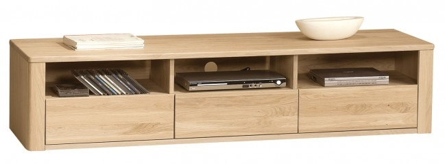 Amazing Top TV Cabinets With Drawers Throughout Orlando Bianco Oak Tv Stand 3 Drawers (Image 4 of 50)