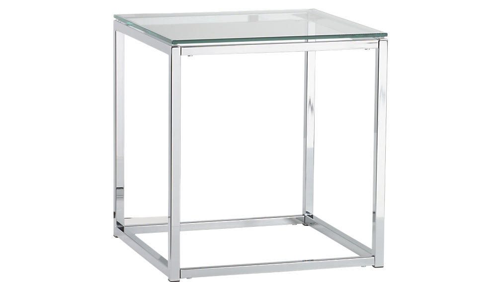 Amazing Top White And Chrome Coffee Tables With Regard To Smart Chrome And Glass Side Table Cb2 (Photo 30 of 50)