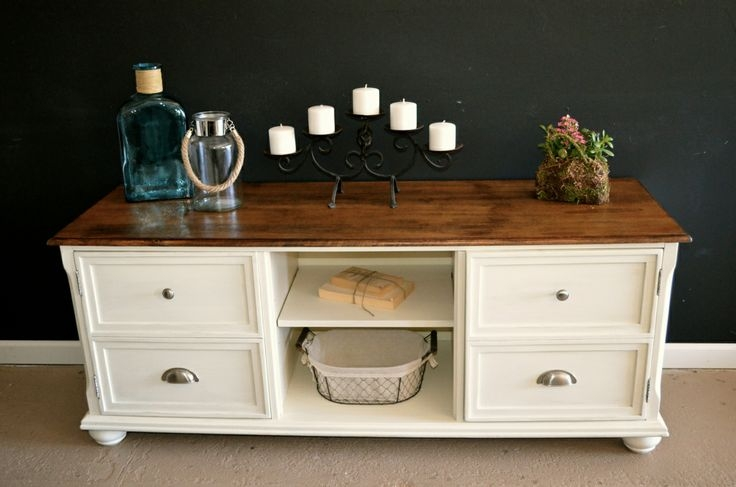 Amazing Top White And Wood TV Stands For Tv Stands Elegant White Distressed Tv Stand White Entertainment (Image 7 of 50)