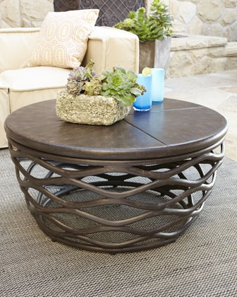 Amazing Top Wooden Garden Coffee Tables With Living Room The Most Outdoor Round Coffee Table In Outside Tables (Image 4 of 50)