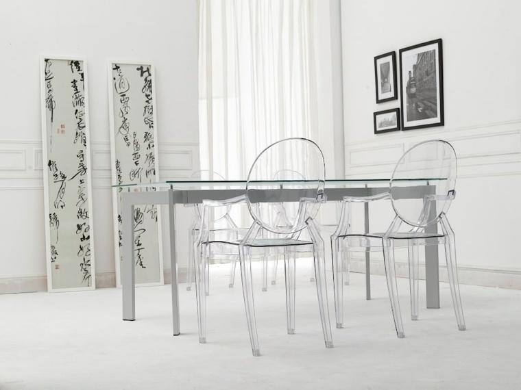Amazing Transparent Dining Room Chairs Ideas – 3D House Designs With Regard To Clear Plastic Dining Tables (Image 4 of 20)