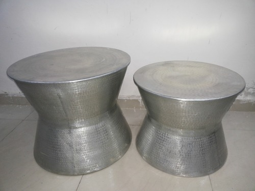 Amazing Trendy Aluminium Coffee Tables Regarding Metal Tables And Stools Aluminium Stools Exporter From New Delhi (Image 5 of 50)