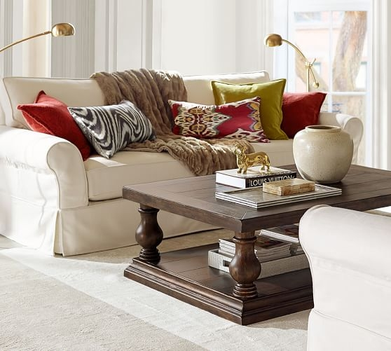 Amazing Trendy Antique Glass Pottery Barn Coffee Tables With Lorraine Coffee Table Pottery Barn (Image 6 of 50)