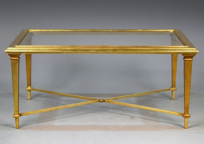 Amazing Trendy Glass Gold Coffee Tables For Coffee Table Design Contemporary Glass And Gold Coffee Table (View 32 of 50)