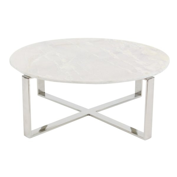 Amazing Trendy Marble Coffee Tables Intended For Cole Grey Stainless Steelmarble Coffee Table Reviews Wayfair (View 41 of 50)